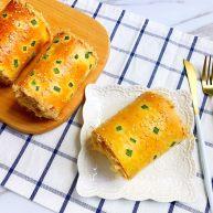 最爱的汤种法香葱肉松面包卷