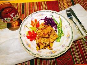 创意菜~红酒蒜香龙利鱼