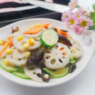 荷塘月色--缤纷蔬菜炒藕片