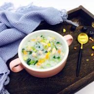 #懶人料理# 三文魚菌菇雜蔬粥