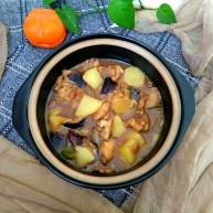 土豆香菇焖鸡腿肉