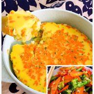 亲子餐:西兰花炖鸡蛋羹&胡萝卜清炒西兰花 8M以上