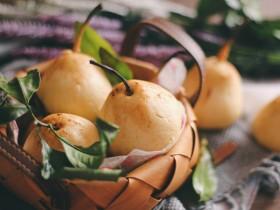 梨子造型粗粮馒头