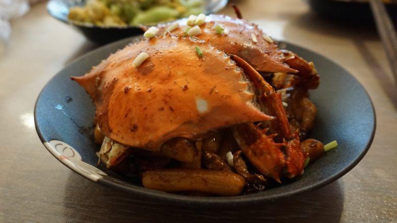 梭子蟹炒年糕