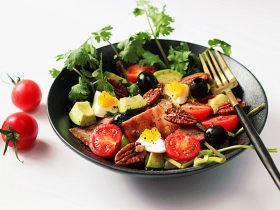 健康味美的【培根果干杂蔬沙拉】