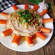 蟹棒金针菇蒸粉丝