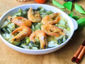 虾干冬腌菜
