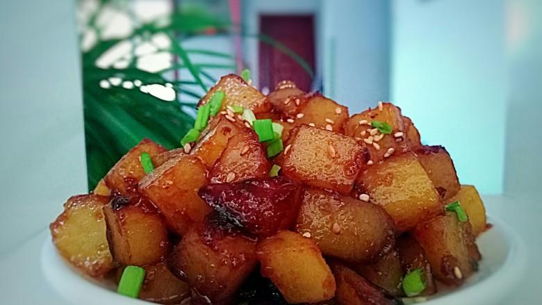 圆土豆+糖醋土豆丁