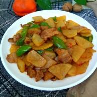 圆土豆+干锅土豆片