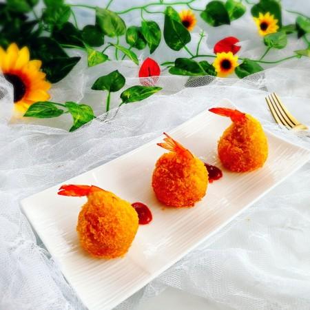 圆土豆+凤尾土豆虾球