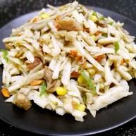 爆炒藕粒青椒肉