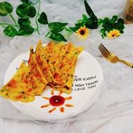 百变鸡蛋+火腿肠虾皮鸡蛋饼