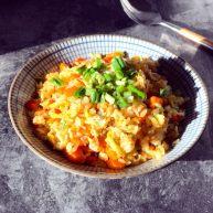 百变鸡蛋+双香彩椒南瓜饭