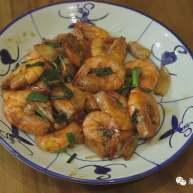 潮汕香葱油爆虾