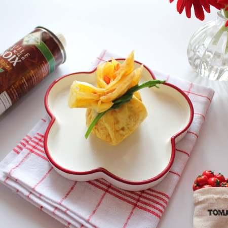 芦笋虾仁钱袋蛋包饭(适合15个月以上的宝宝)