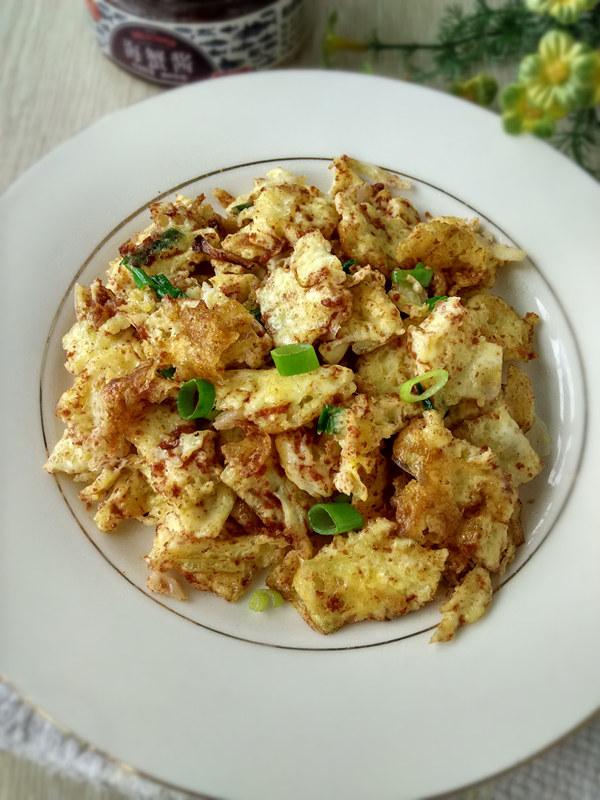 海蟹酱炒鸡蛋