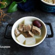 冬季养生暖身汤  羊肉萝卜汤