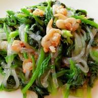 蚬子粉条拌菠菜