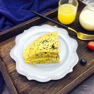快手早餐 鲜虾皮鸡蛋饼
