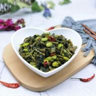 厨房挑战+素菜+雪菜炒毛豆