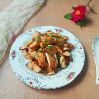 厨房挑战+素菜+香葱酱油滚动茭白块