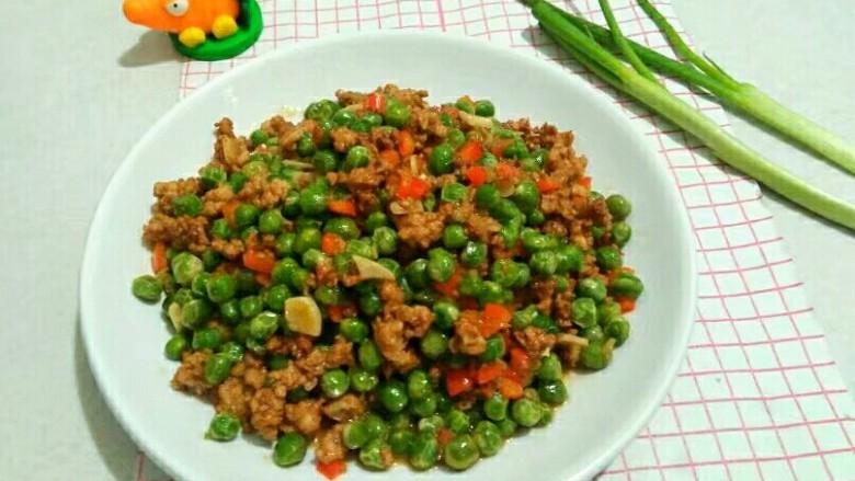 厨房挑战+荤菜+烂肉豌豆(肉末豌豆)