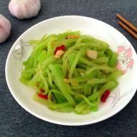厨房挑战+素菜+清炒莴笋丝