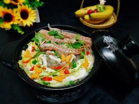 一锅炖+皮皮虾白菜粉丝煲