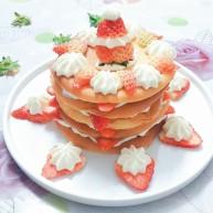 """香橙草莓奶油<span style=""""color:red"""">松饼</span>"""