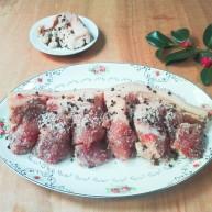 冬天里的一把火+焦(椒)香麻麻+盐炒花椒腌带皮五花肉咸肉