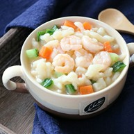 虾仁疙瘩汤