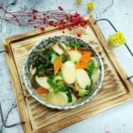 芽菜肉丝炒年糕