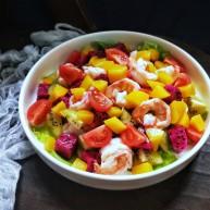 营养虾仁健康水果沙拉