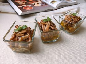 油浸蟹味菇拌烤茄子