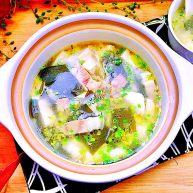 一清二白➕海带豆腐咸肉汤