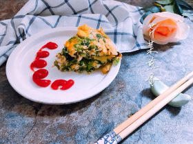 芹菜叶煎蛋
