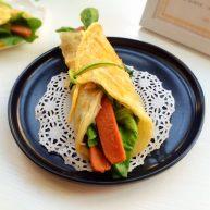 火腿鸡蛋生菜卷饼