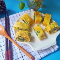 #早餐#紫甘蓝胡萝卜厚蛋烧