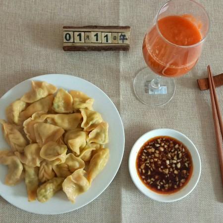 胡萝卜韭菜香菇猪肉饺子