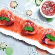 自制鲜草莓酱紫薯山药