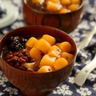 红薯圆红豆汤