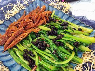 豆豉鲮鱼油麦菜,成了呦