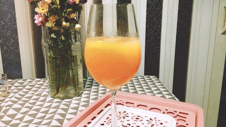 充满柚子果粒的★柠檬蜂蜜柚子汁