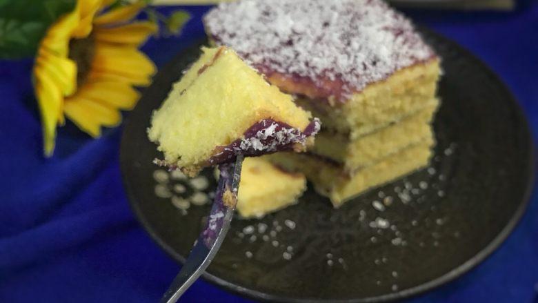 椰蓉紫薯蛋糕