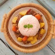 鹅胗土豆胡萝卜咖喱盖浇饭