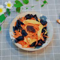 胡萝卜木耳炒腐竹 美味营养的快手素菜