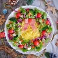 圣诞花环沙拉盘