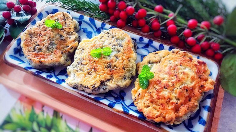 做饼~黑芝麻紫菜饼