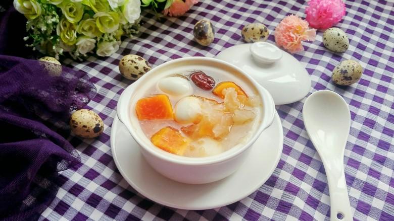 木瓜做法炖银耳蛋-极点木瓜炖兔肉蛋做法,鹌鹑,食材超功效子王银耳鹌鹑图片