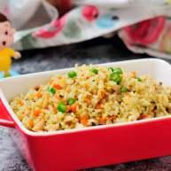 香菇鸡丁胡萝卜蛋炒饭 有菜有肉营养丰富的快手宝宝餐